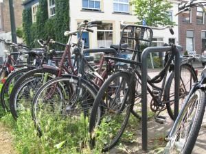 Some of the bikes in Delft