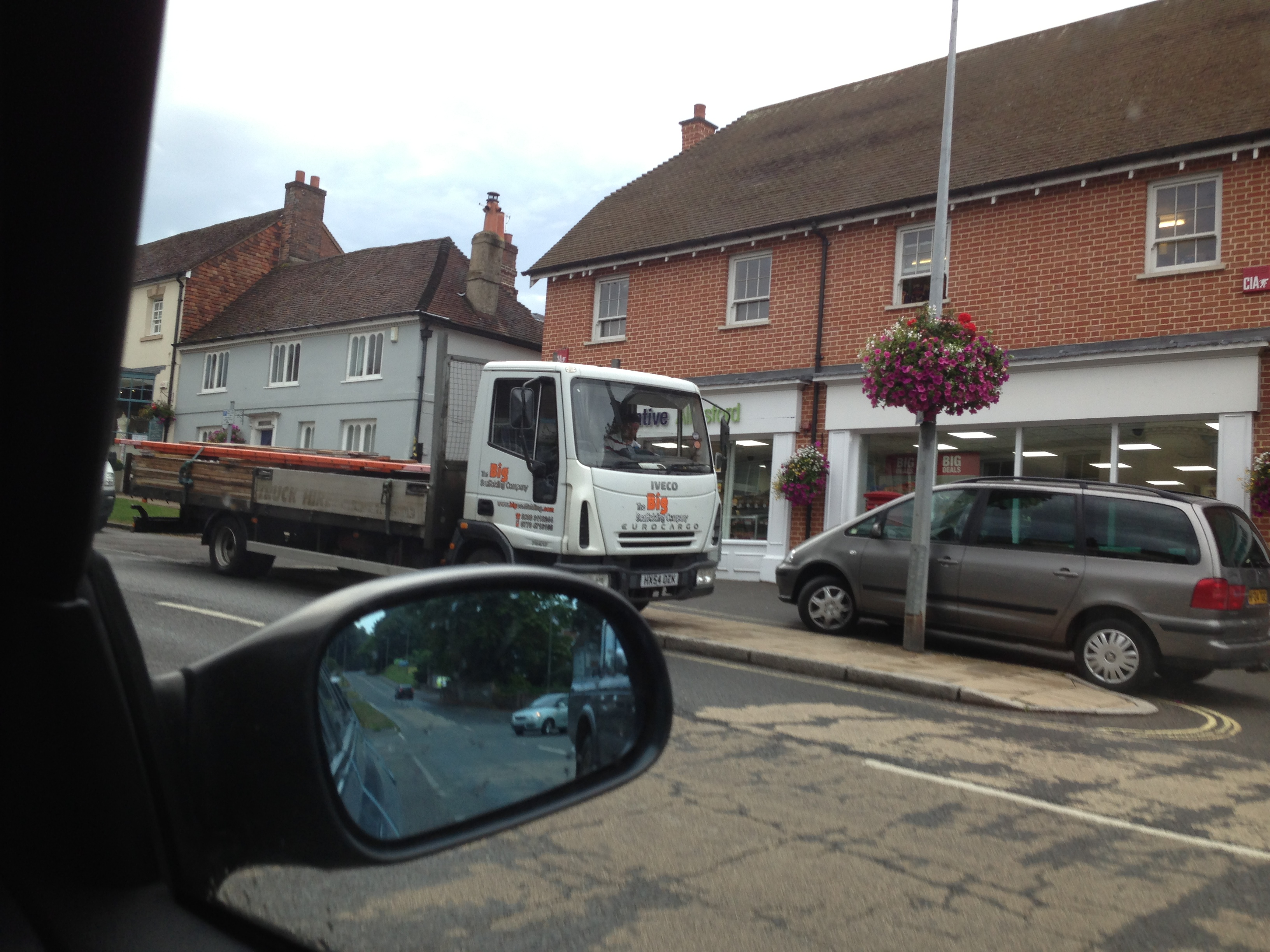 The Big Scaffolding Company parked illegally outside the Coop Alresford