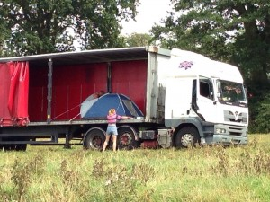 Pitching your tent in a trailer